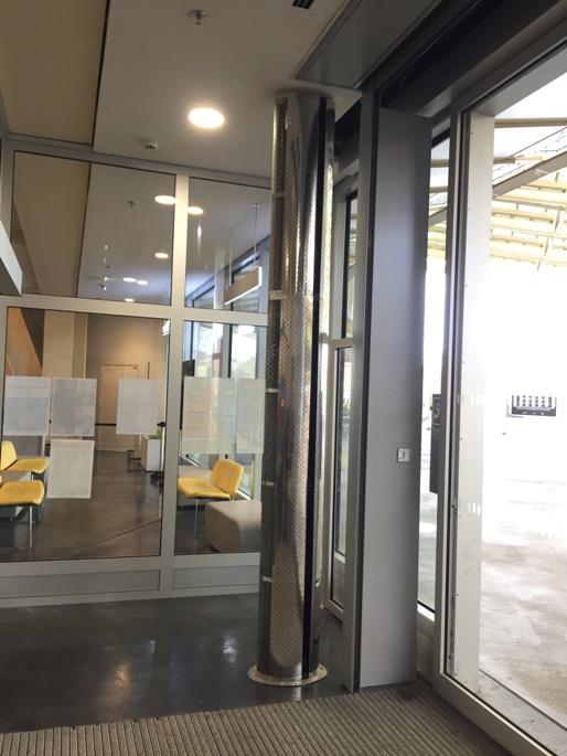 Rideau d 39 air chaud lectrique vertical 2m teddington for Rideau air chaud
