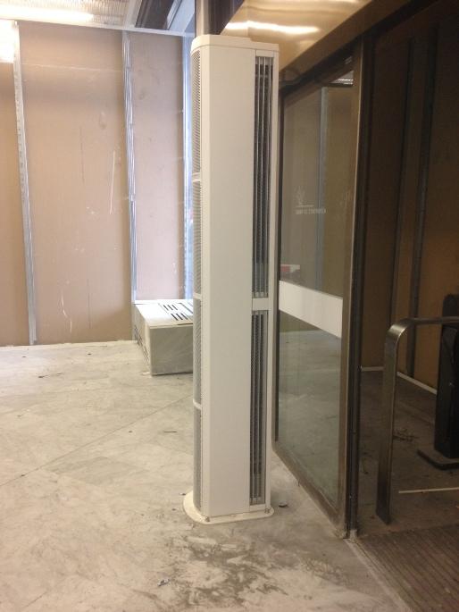 rideau d 39 air chaud electrique vertical. Black Bedroom Furniture Sets. Home Design Ideas