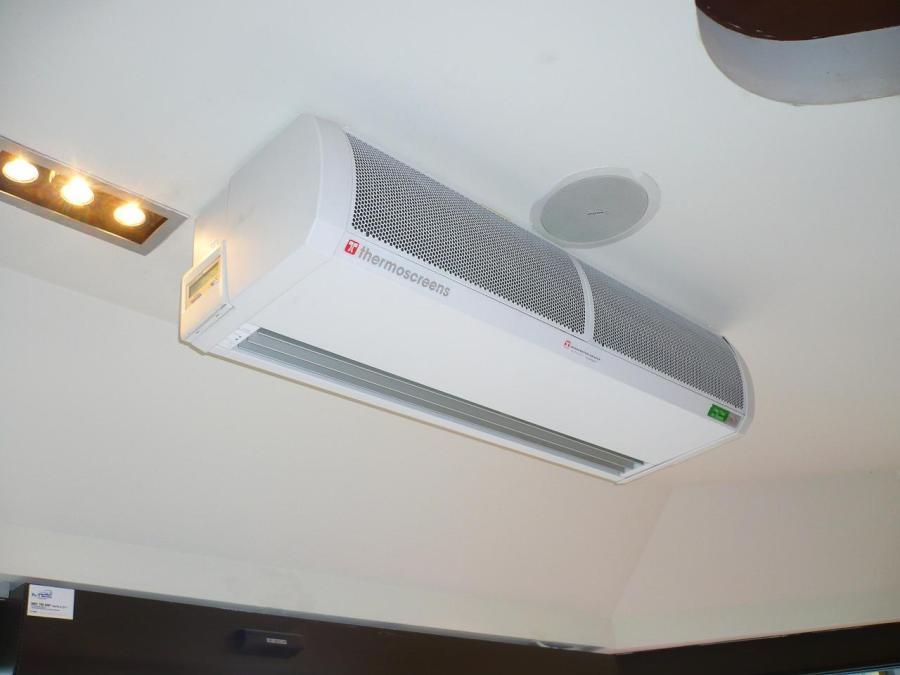 Rideau d 39 air chaud thermodynamique 1 5m teddington for Rideau air chaud