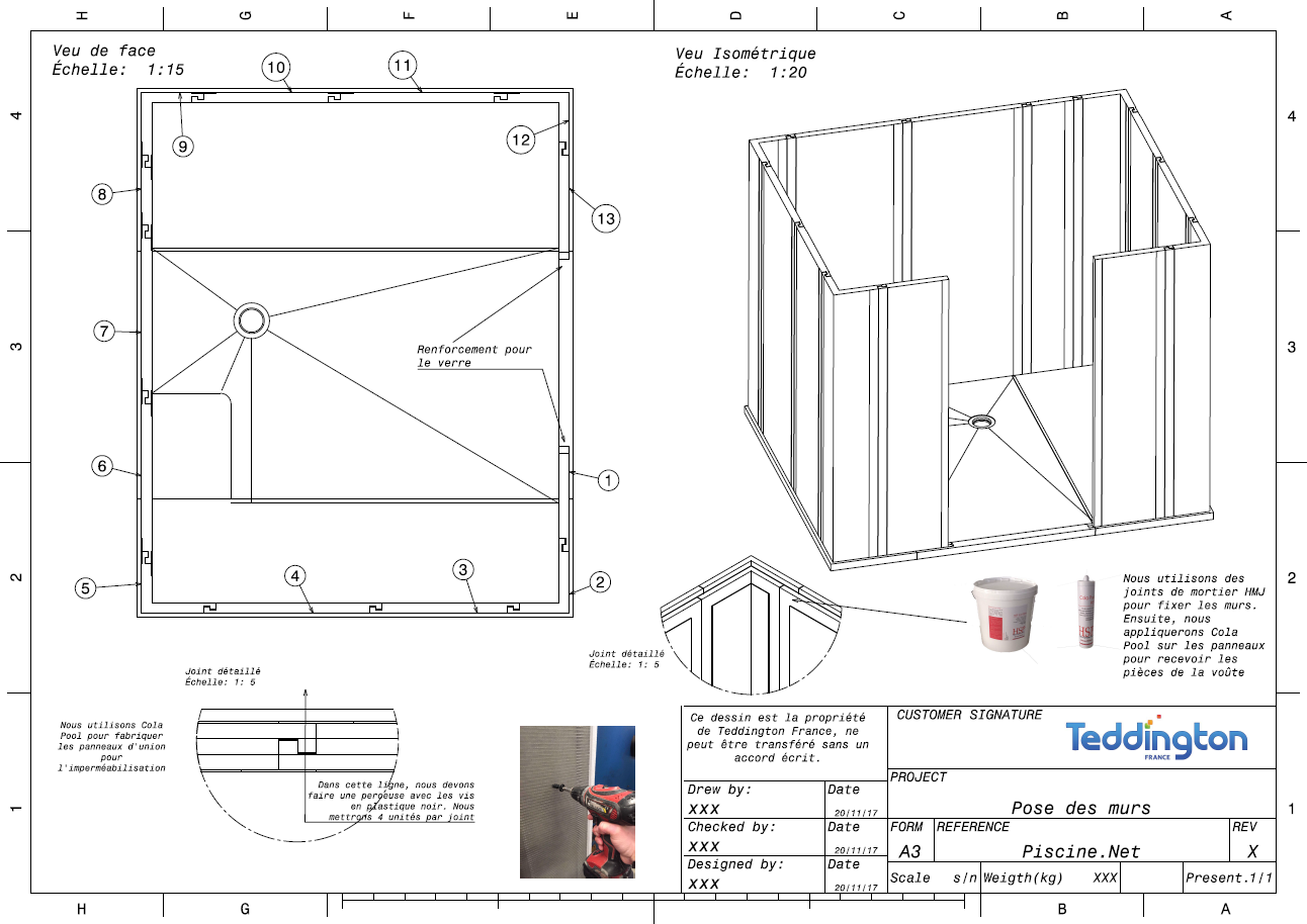 Plan de masse et plan de montage hammam 11 m teddington bien tre - Plan de masse et plan de situation ...