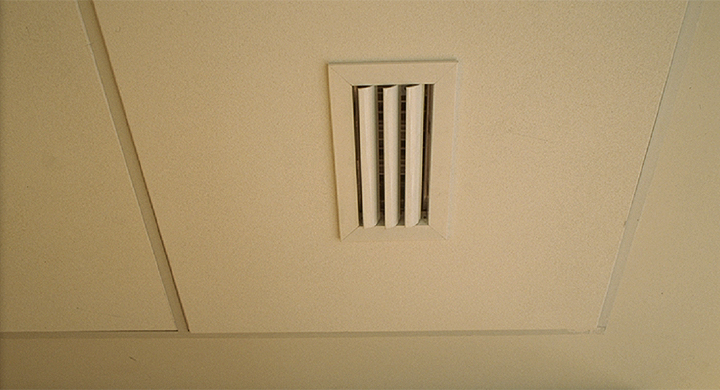 Curved blades ceiling grilles - AMT-AC